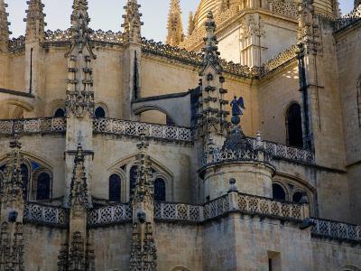Gothic Detail on Segovia's Cathedral-Scott Warren-Photographic Print