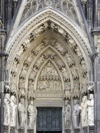 Gothic Nested Arches, Upper Part of Portal of Cologne Cathedral, North Rhine-Westphalia, Germany-Florian Monheim-Photographic Print