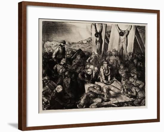 Gott Strafe England, 1918-George Wesley Bellows-Framed Giclee Print