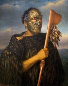 Maori Chief Tamati Waka Nene by Gottfried Lindauer