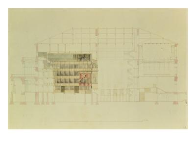 Plan for the Dresden Royal Theatre, C.1838