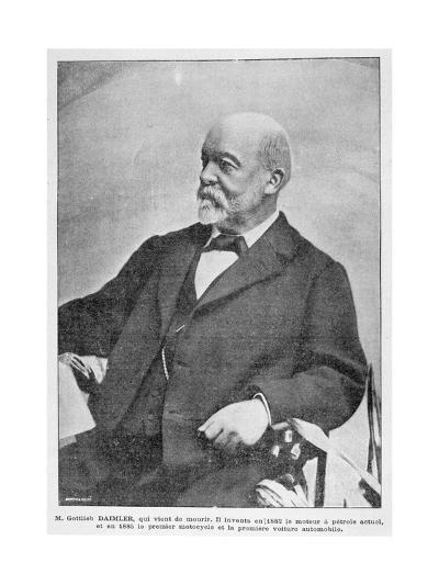 Gottlieb Daimler, German Industrial Pioneer, 1900--Giclee Print