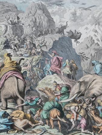 Hannibal Crosses the Alps (From Münchener Bilderboge)