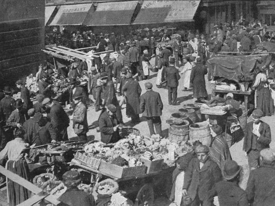 Goulston Street on Sunday morning, London, c1901 (1901)-Unknown-Photographic Print