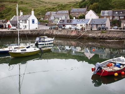 Gourdon Harbour Near Inverbervie, Aberdeenshire, Scotland, United Kingdom, Europe-Mark Sunderland-Photographic Print