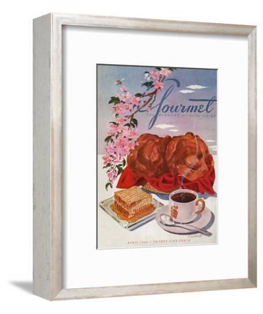 Gourmet Cover - April 1944-Henry Stahlhut-Framed Premium Giclee Print