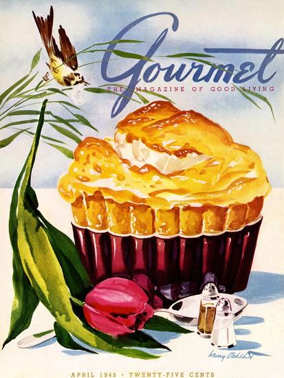 Gourmet Cover - April 1945-Henry Stahlhut-Premium Giclee Print