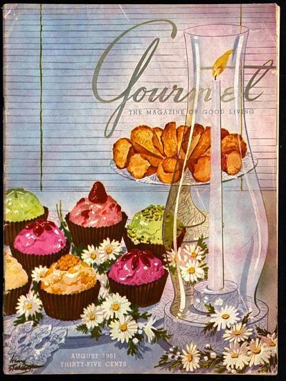 Gourmet Cover - August 1951-Henry Stahlhut-Premium Giclee Print