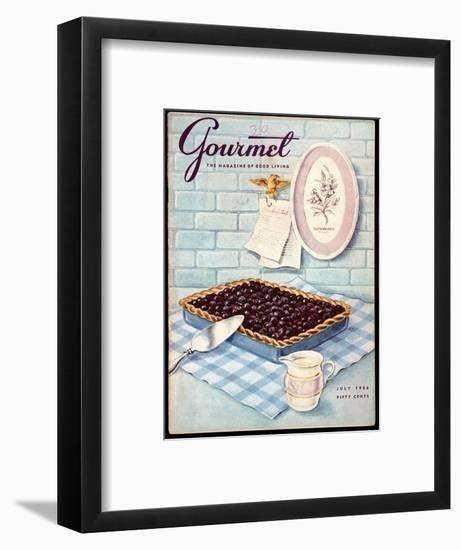 Gourmet Cover - July 1956-Hilary Knight-Framed Premium Giclee Print