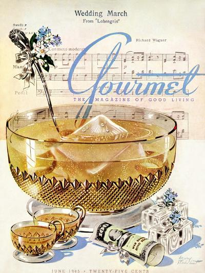 Gourmet Cover - June 1945-Henry Stahlhut-Premium Giclee Print