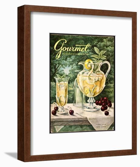 Gourmet Cover - June 1956-Hilary Knight-Framed Premium Giclee Print