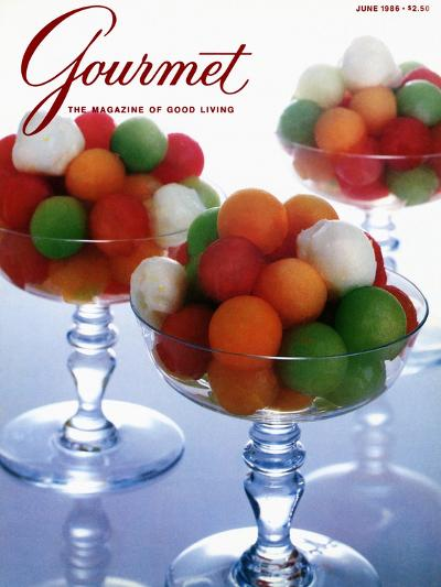 Gourmet Cover - June 1986-Romulo Yanes-Premium Giclee Print