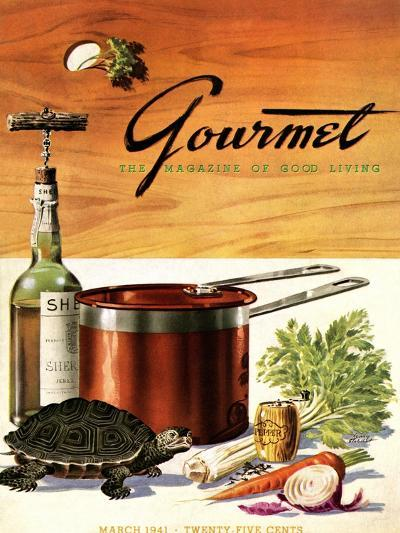 Gourmet Cover - March 1941-Henry Stahlhut-Premium Giclee Print