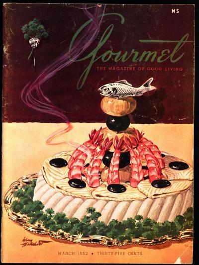 Gourmet Cover - March 1952-Henry Stahlhut-Premium Giclee Print
