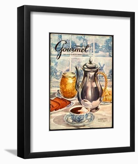 Gourmet Cover - March 1956-Hilary Knight-Framed Premium Giclee Print