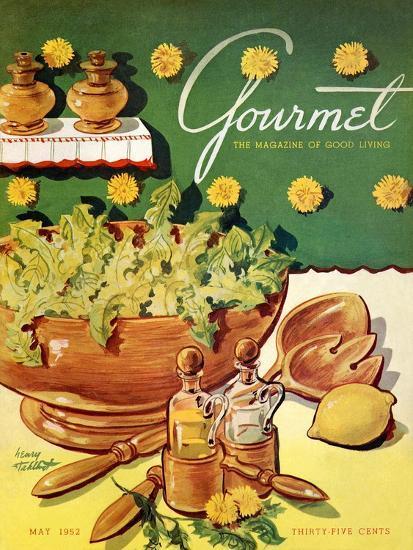Gourmet Cover - May 1952-Henry Stahlhut-Premium Giclee Print
