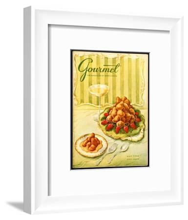 Gourmet Cover - May 1956-Hilary Knight-Framed Premium Giclee Print
