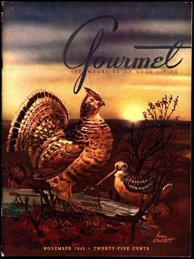 Gourmet Cover - November 1945-Henry Stahlhut-Premium Giclee Print