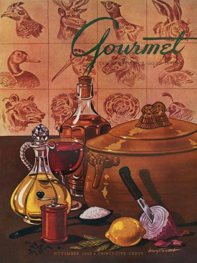 Gourmet Cover - November 1948-Henry Stahlhut-Premium Giclee Print