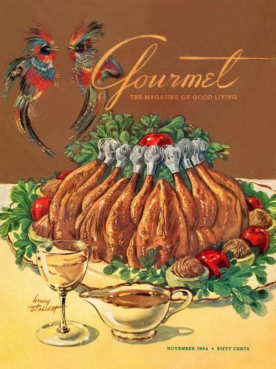 Gourmet Cover - November 1954-Henry Stahlhut-Premium Giclee Print
