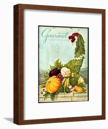 Gourmet Cover - November 1956-Hilary Knight-Framed Premium Giclee Print