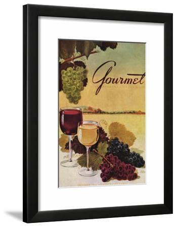 Gourmet Cover - October 1942-Henry Stahlhut-Framed Art Print