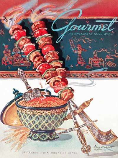 Gourmet Cover - September 1948-Henry Stahlhut-Premium Giclee Print