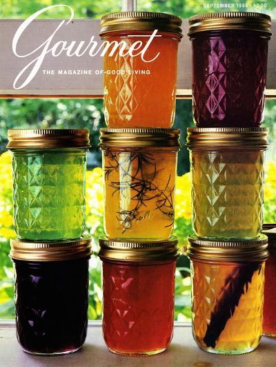 Gourmet Cover - September 1985-Romulo Yanes-Premium Giclee Print