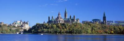 Government Building on a Hill, Parliament Building, Parliament Hill, Ottawa, Ontario, Canada