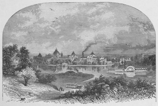 'Government Buildings on Ward's Island', 1883-Unknown-Giclee Print