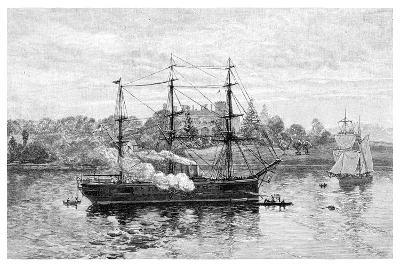 Government House and HMS Nelson, Sydney, New South Wales, Australia, 1886-JR Ashton-Giclee Print