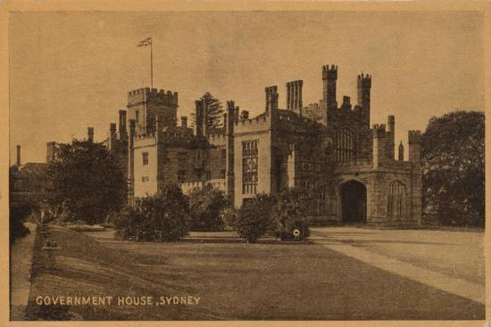 'Government House, Sydney', c1900-Unknown-Giclee Print