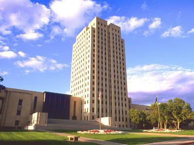 Government Tower Building, Bismarck, North Dakota-Bill Bachmann-Photographic Print