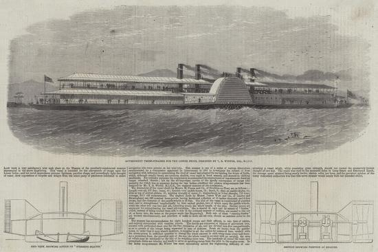 Government Troop Steamer for the Lower Indus-Edwin Weedon-Giclee Print