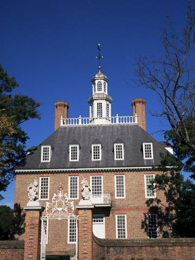 Governor's Palace, Georgian Architecture in Colonial Williamsburg, Virginia, USA-Ken Gillham-Photographic Print