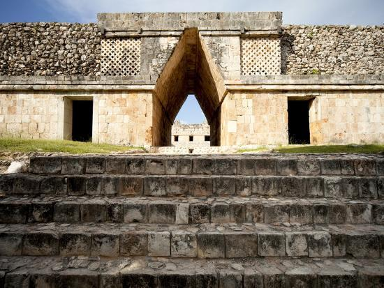 Governor's Palace in the Mayan Ruins of Uxmal, UNESCO World Heritage Site, Yucatan, Mexico-Balan Madhavan-Photographic Print