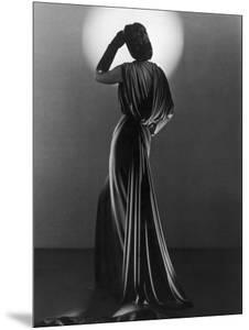 Gown in Mauve Jersey by Balenciaga of Paris Which Makes Dramatic Use of Classical Style Drapery