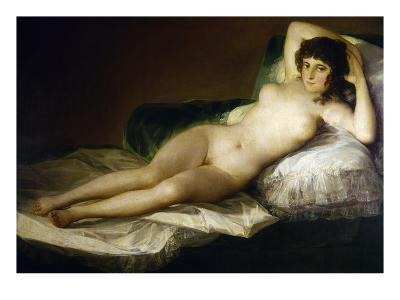 Goya: Nude Maja, C1797-Francisco de Goya-Giclee Print