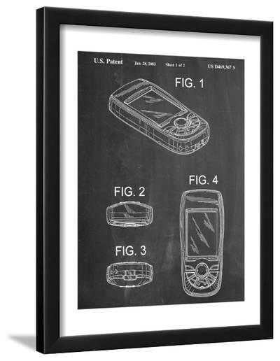 GPS Device Patent--Framed Art Print