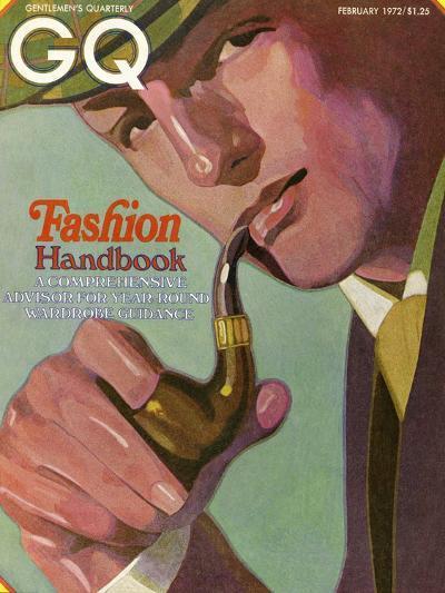 GQ Cover - February 1972-Alex Gnidziejko-Premium Giclee Print