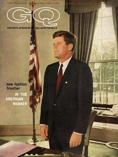 GQ Cover - March 1962-David Drew Zingg-Premium Giclee Print