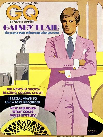 GQ Cover - March 1974-Richard Amsel-Premium Giclee Print