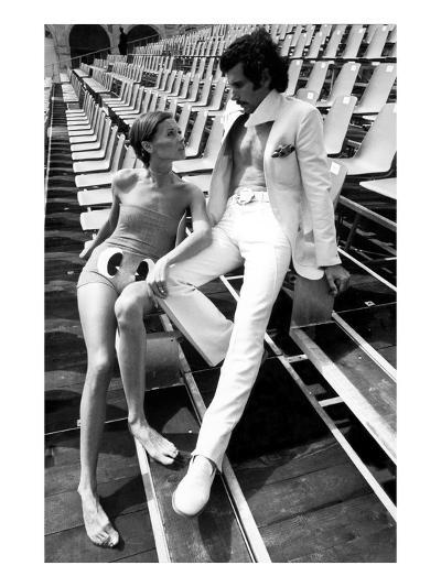 GQ - February 1971-Eva Sereny-Premium Photographic Print