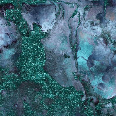 Abstract Malachite Gemstone