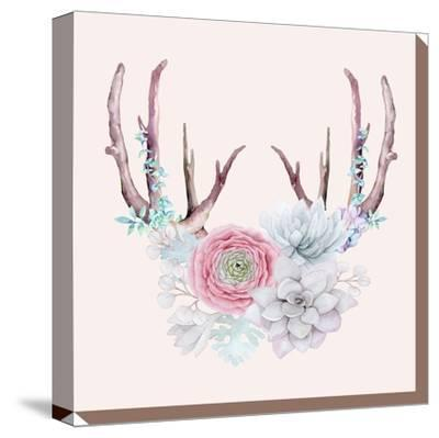 Antlers and Flower by Grab My Art