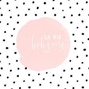 Boheme-Typography Dots Illustration Shabby by Grab My Art