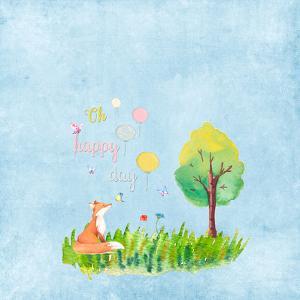 Cute Fox Animal Wild Mammal - Square 2 by Grab My Art