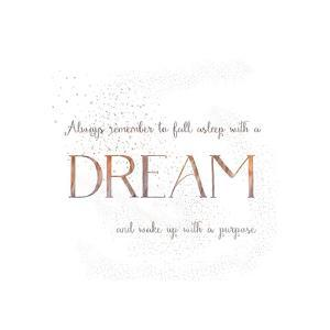 Dream Vintage Typography White by Grab My Art