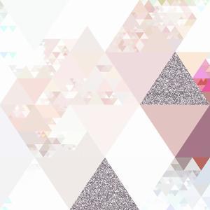 Elegant Pink Glitter Pattern - Square by Grab My Art