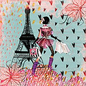 Fashion Girl In Paris Shopping by Grab My Art